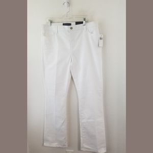 NYDJ White NWT Modern Bootcut Jeans Sz 16